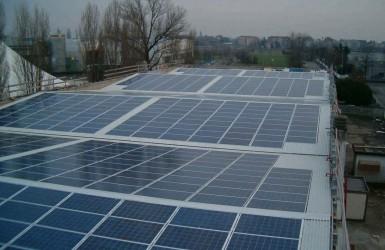 Photovoltaic system near Milan