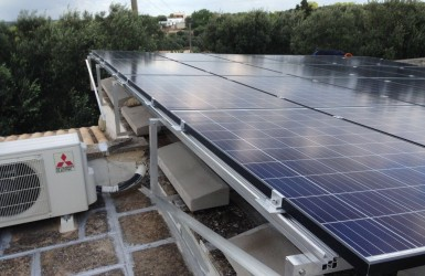 Construction over structure for photovoltaic panels
