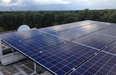 Módulos fotovoltaicos para aprovechar las energías renovables.