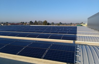Solar panels for industrial warehouse