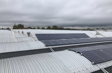 Photovoltaic Plant on industial warehouse