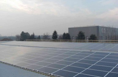 Industrial warehouse with photovoltaic system in the province of Milan